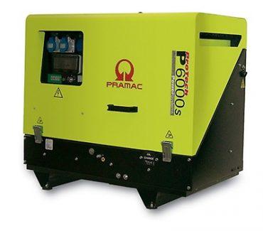 GENERATORE kW 4,9 PRAMAC P6000s DIESEL MONOFASE + DPP